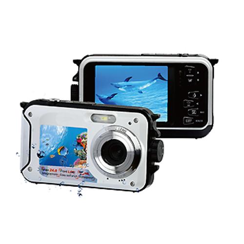 デュアルモニター防水デジタルカメラ|WPDM-BK/WH/YL